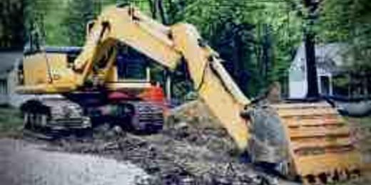 Backhoe digger dig construction